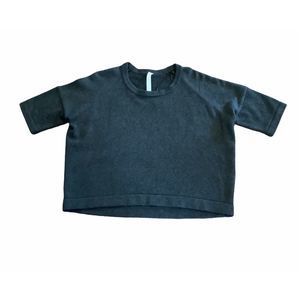 Lululemon Grey Cotton Cropped Sweater Size 8